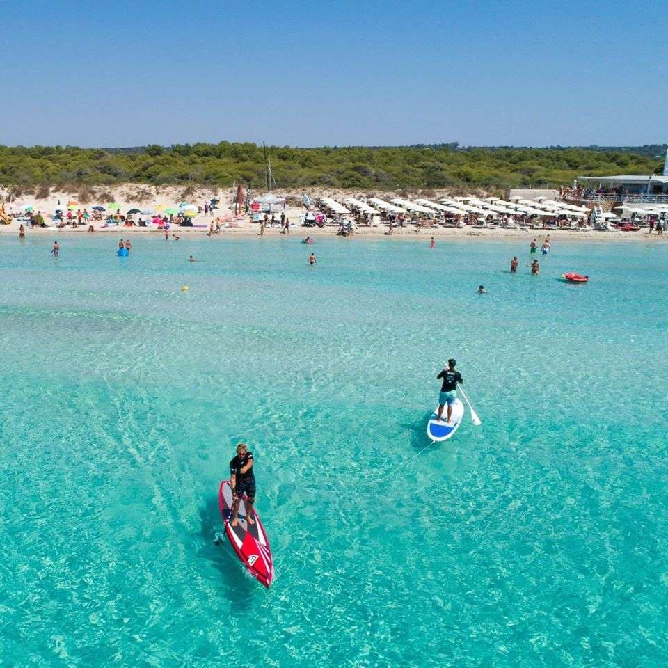 Lezione individuale di SUP a Ugento in Salento