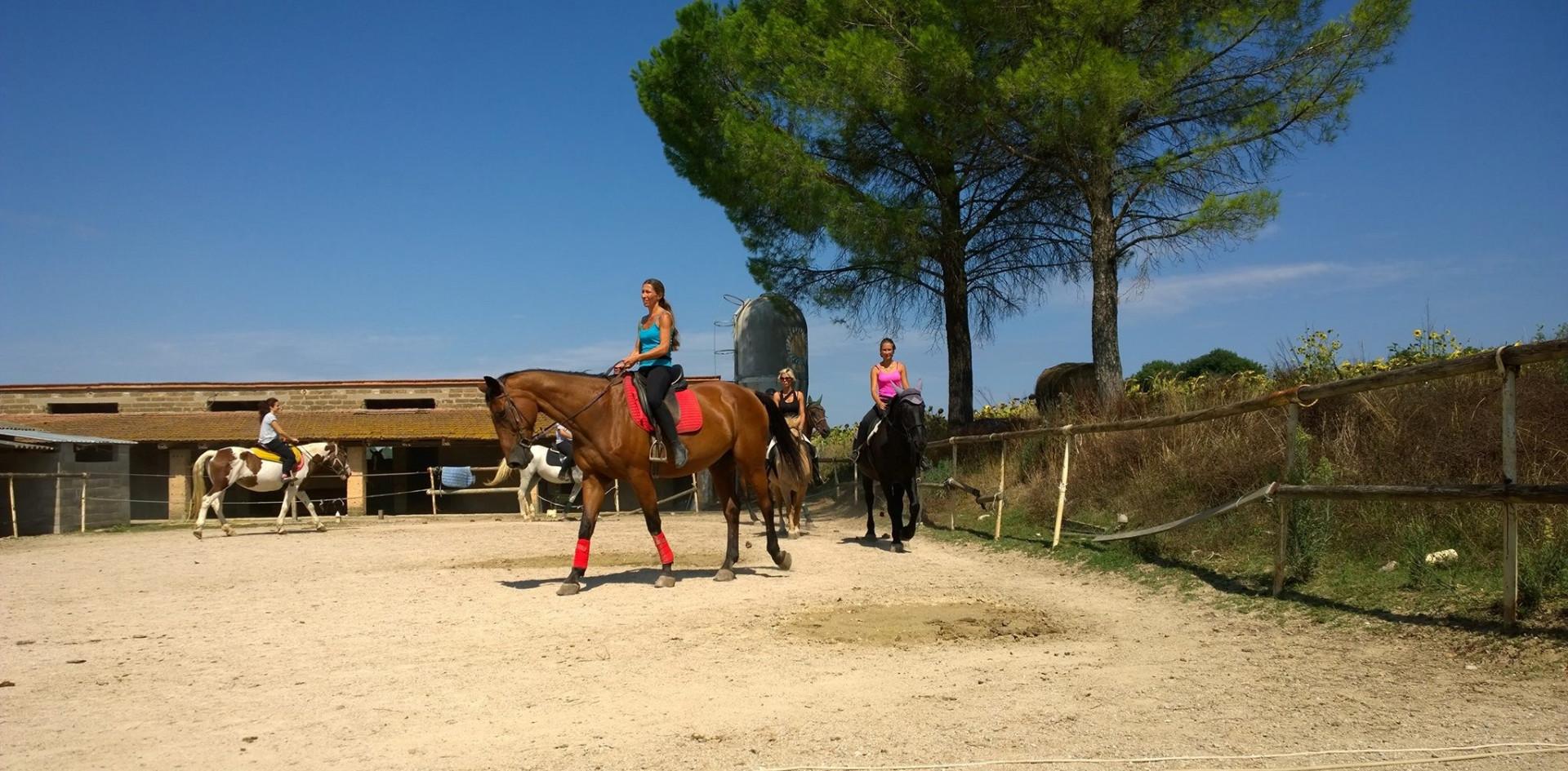 Lezione introduttiva di equitazione in provincia di Perugia