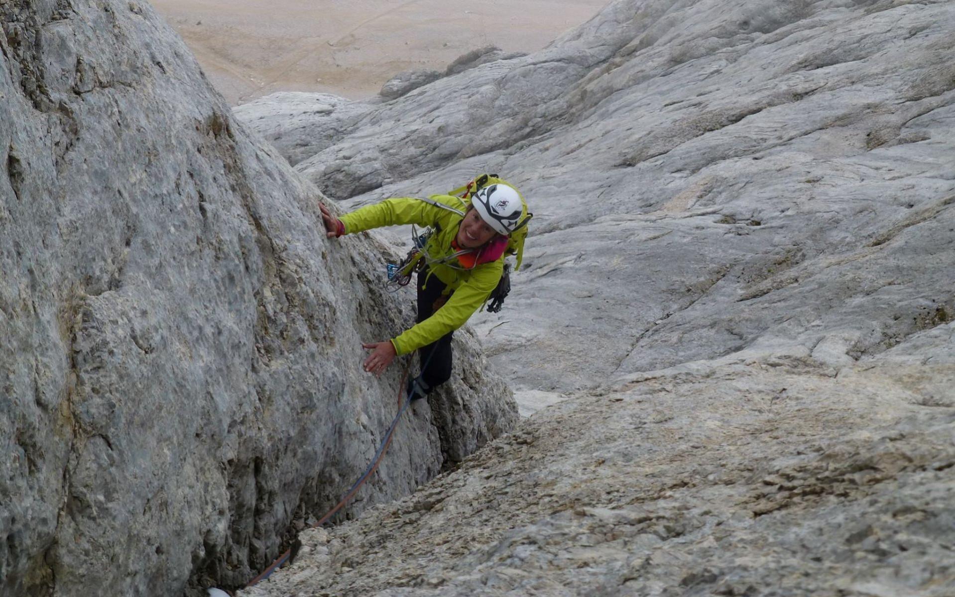 Lezione privata di arrampicata in Val di Fassa