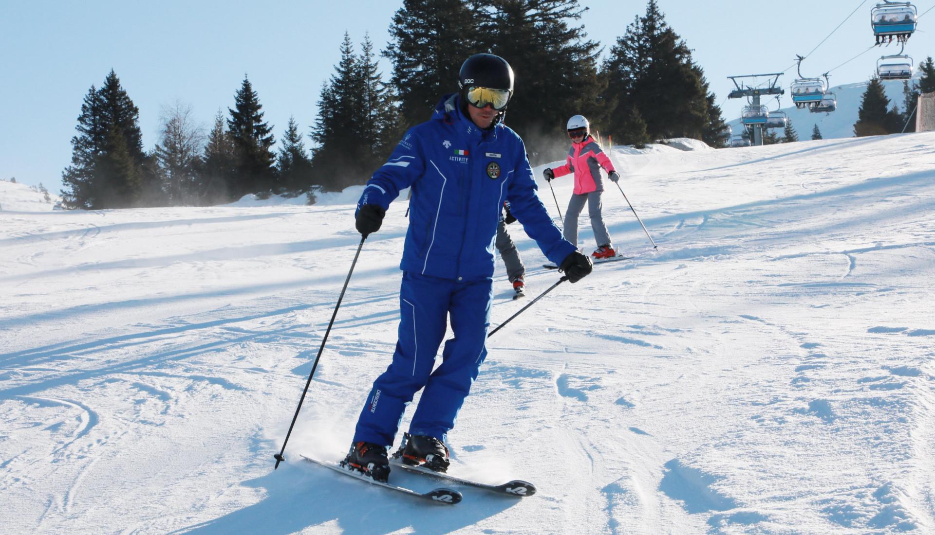 Lezione privata di sci ad Andalo per tutti i livelli
