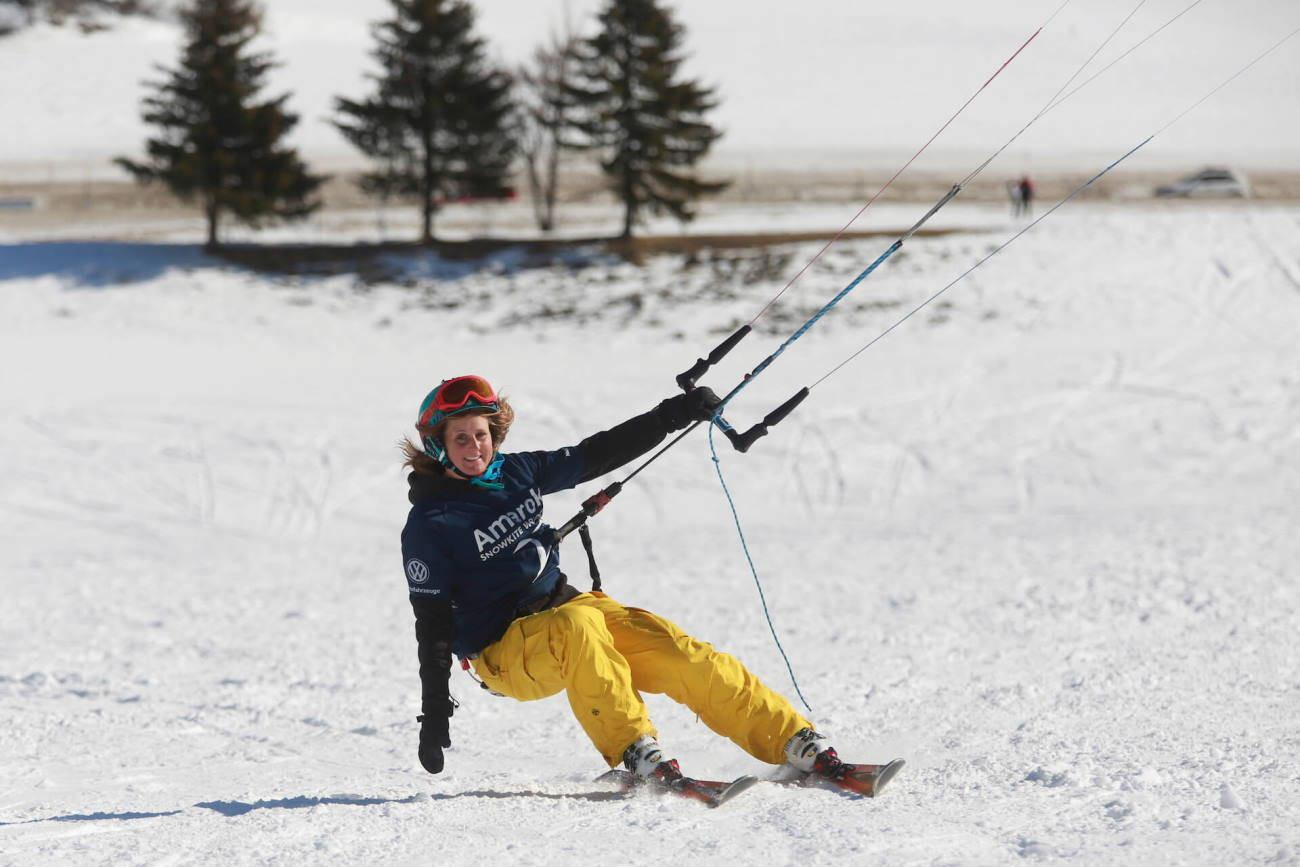 Mini-corso di Snowkite per principianti sul Lago di Resia (BZ)