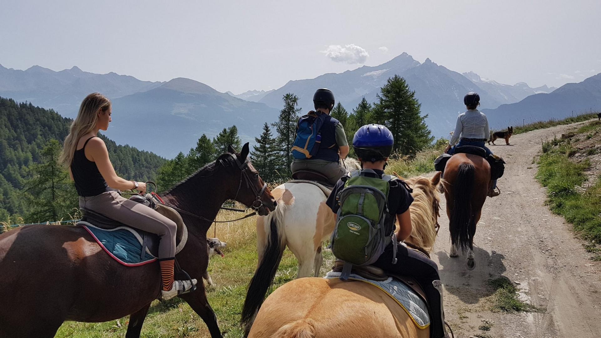 Passeggiata a cavallo da 1 ora a Saint Pierre in Valle d'Aosta