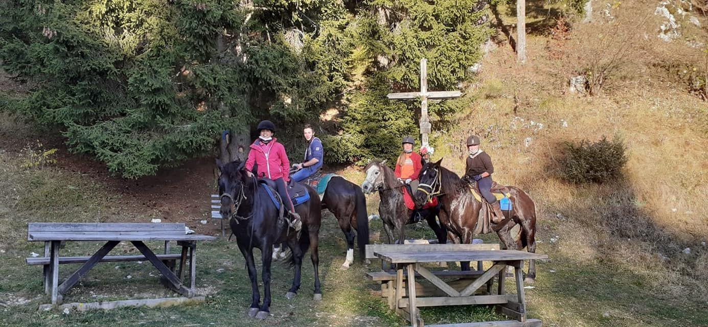 Passeggiata a cavallo al tramonto e aperitivo sull'Alpe Cimbra
