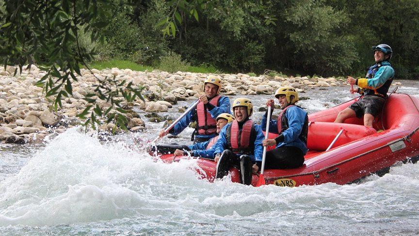 Percorso avventura e discesa di rafting sul fiume Sele