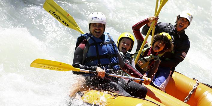 Battesimo del Rafting ai piedi del Monte Bianco