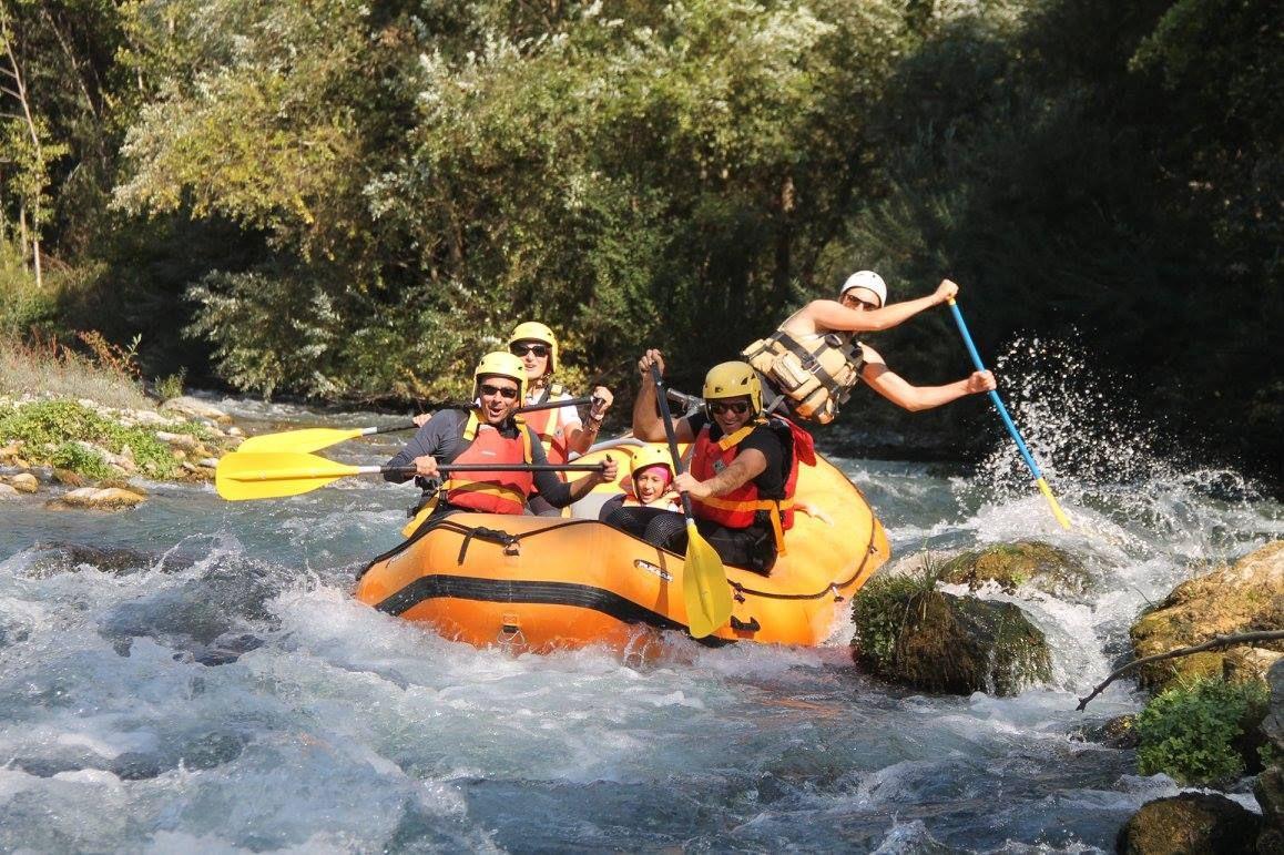 Rafting classico sul fiume Lao nel Pollino