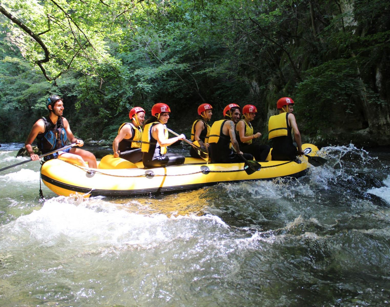 Rafting sul fiume Corno alle Gole di Biselli