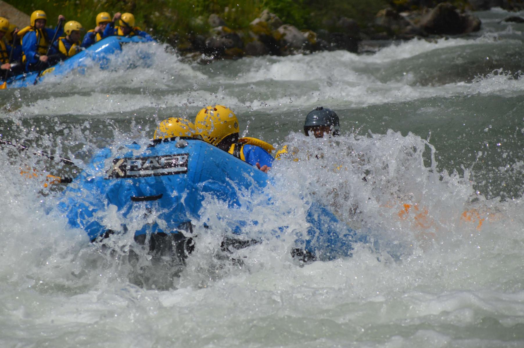 Rafting Rio Claro sul fiume Noce in Trentino