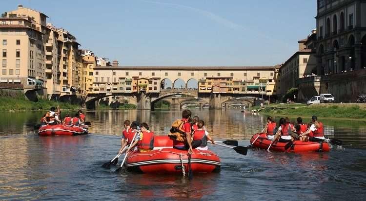 Rafting tour panoramico nel cuore di Firenze