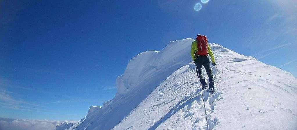 Salita sul Monte Bianco dal versante francese del rifugio Gouter
