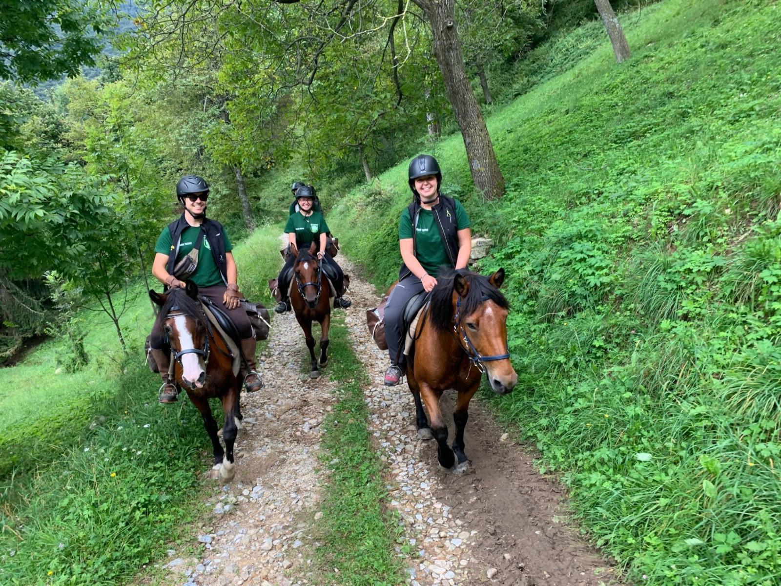 Tour di due giorni a cavallo in Valle Pesio