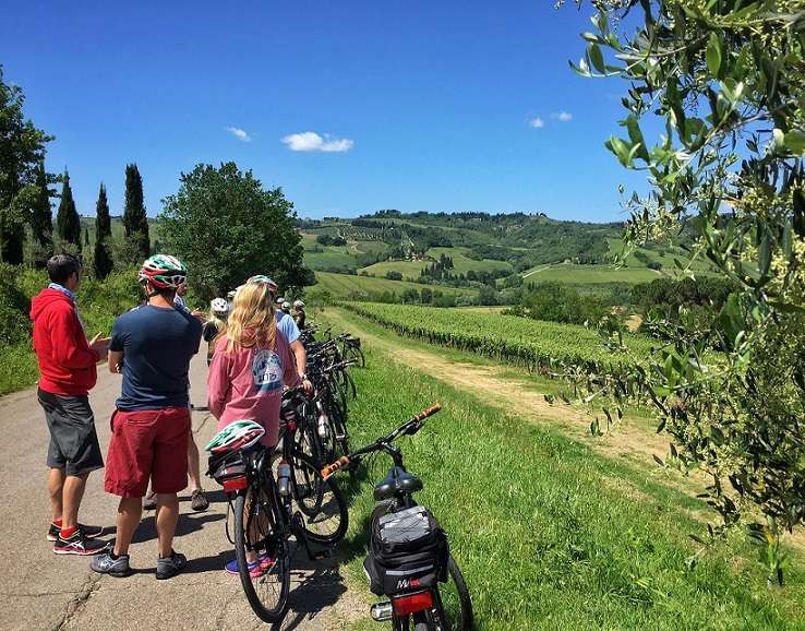 Tour in bici nel Chianti, visita a San Gimignano e degustazione