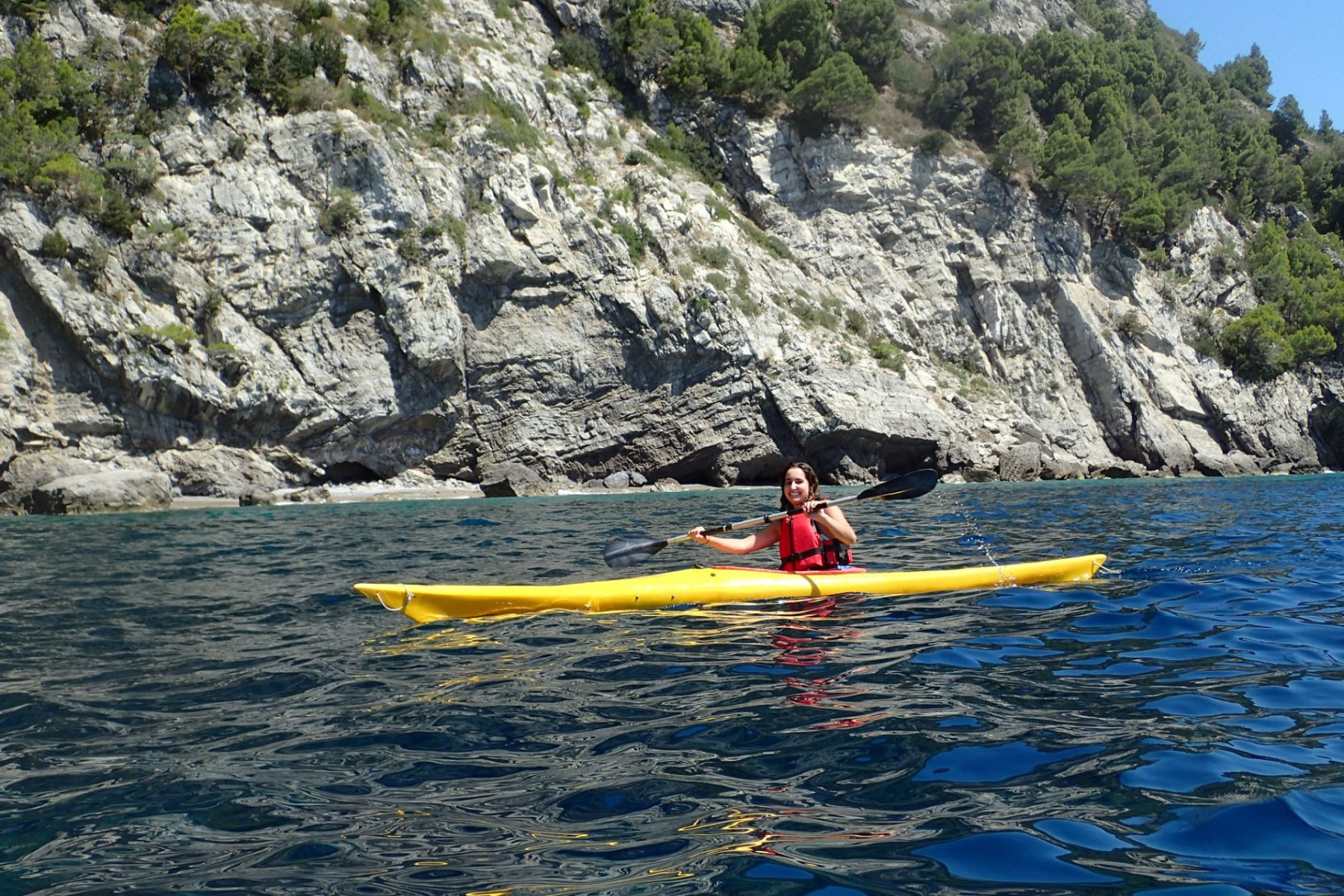 Tour in kayak nella Baia di Ieranto
