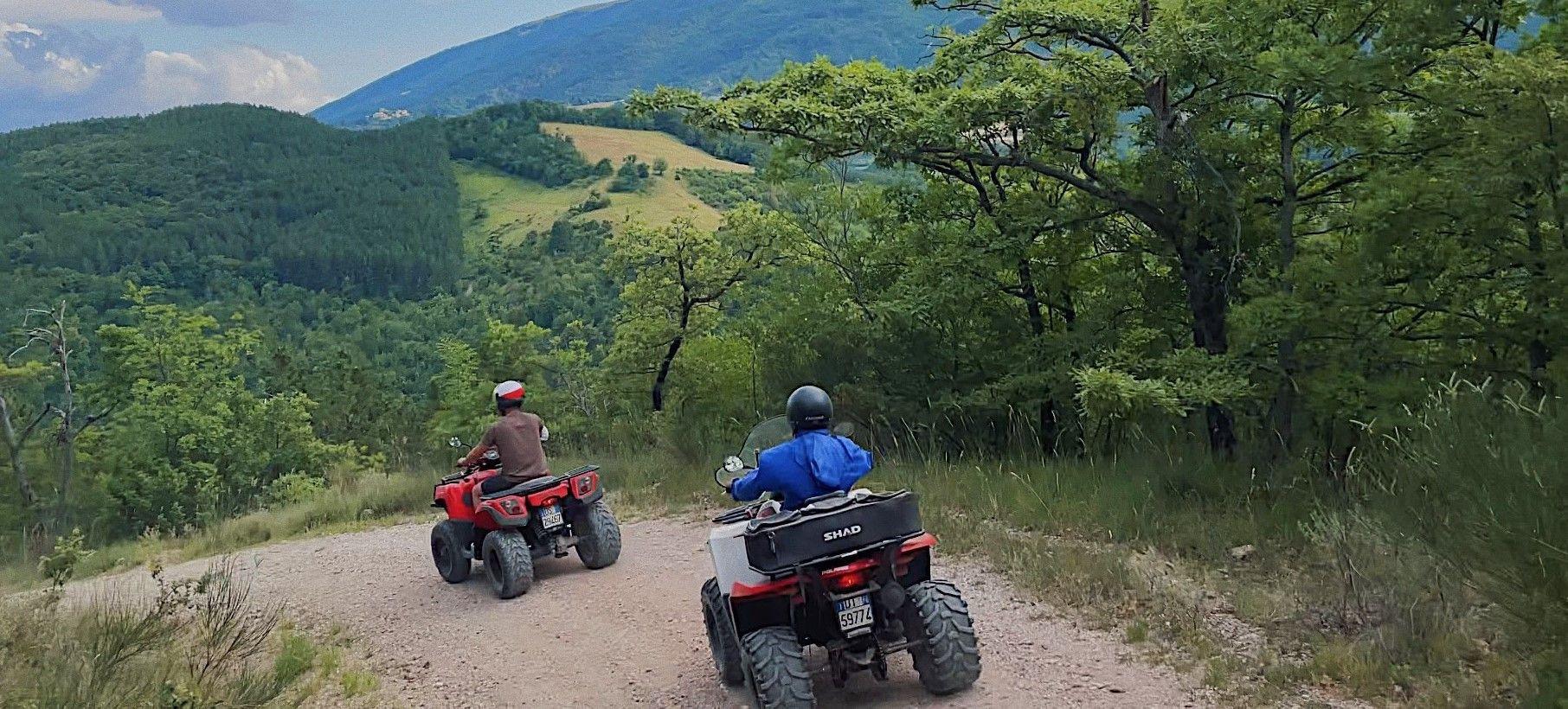 Tour panoramico in quad ad Assisi