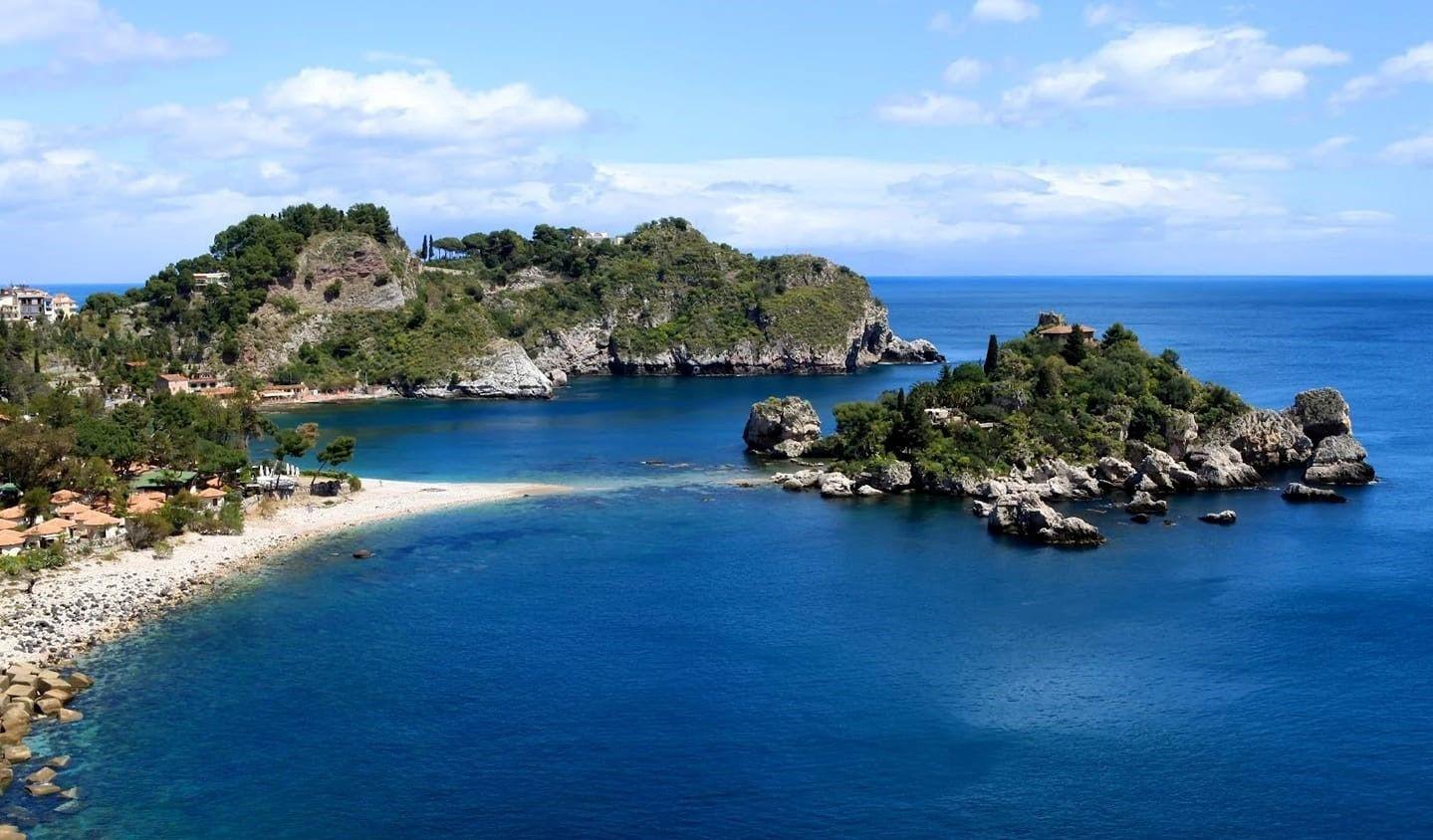 Tour privato in barca all'Isola Bella di Taormina