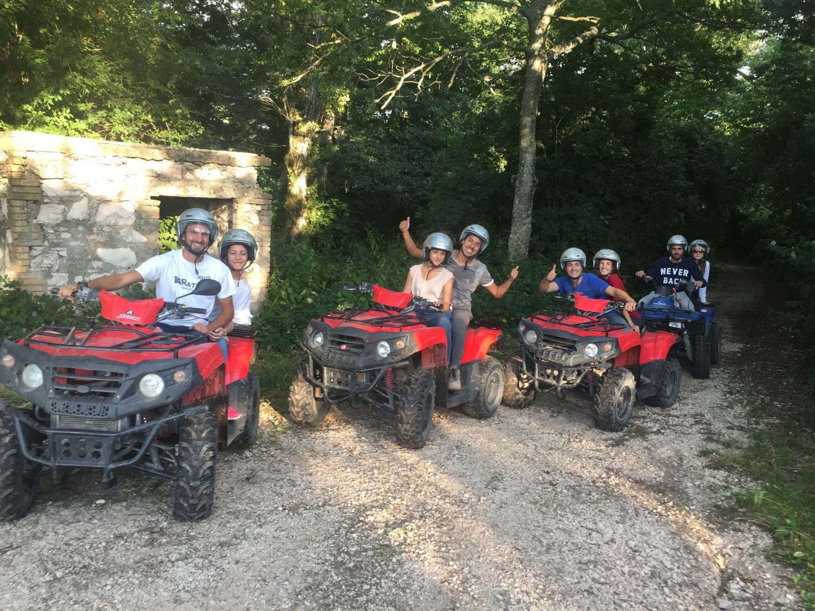 Tour in quad con pranzo nella Valle del Menotre