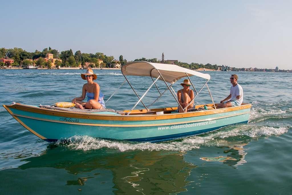Tour di 3 ore in barca elettrica nella Laguna di Venezia