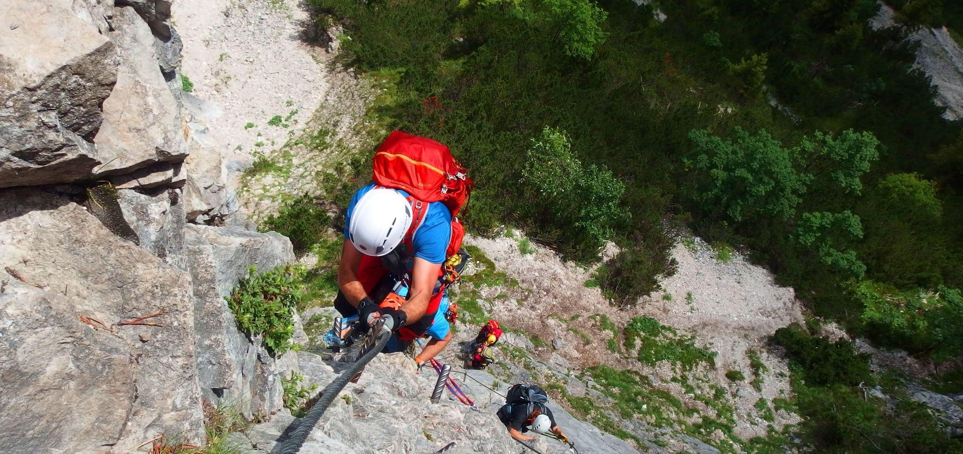 Via ferrata Monte Albano in Vallagarina