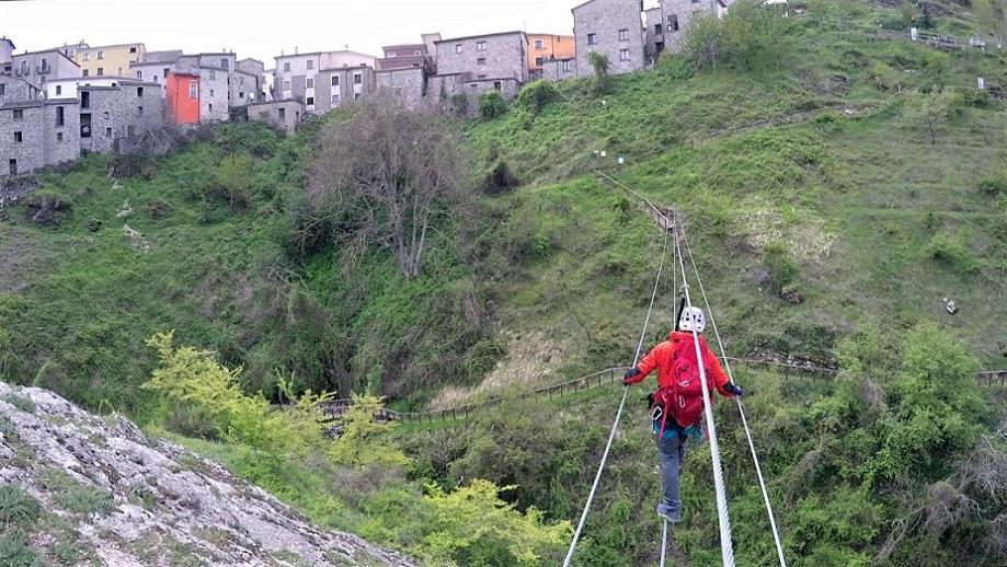 Via ferrata a Sasso di Castalda sull'Appennino Lucano