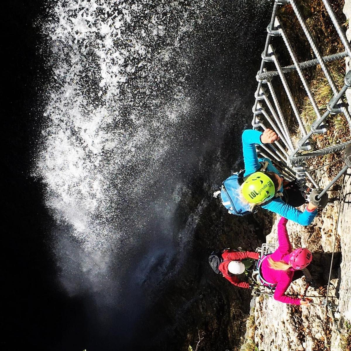 Via Ferrata Signora delle Acque al Rio Ruzza in Trentino