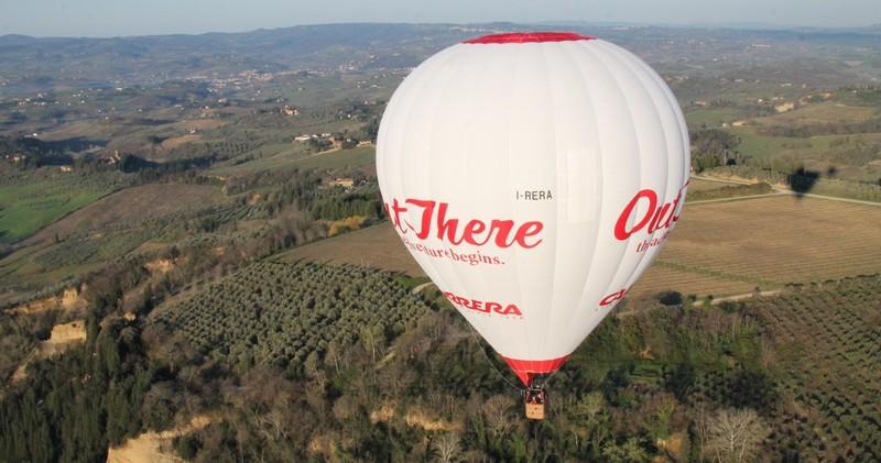 Volo di gruppo in mongolfiera sui colli del Chianti