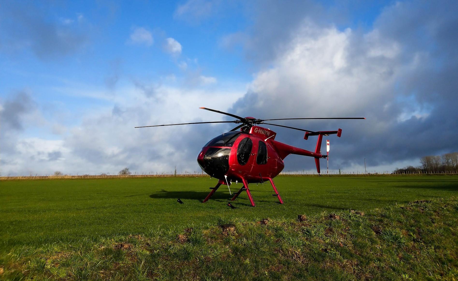 Volo in elicottero sul castello di Formigine