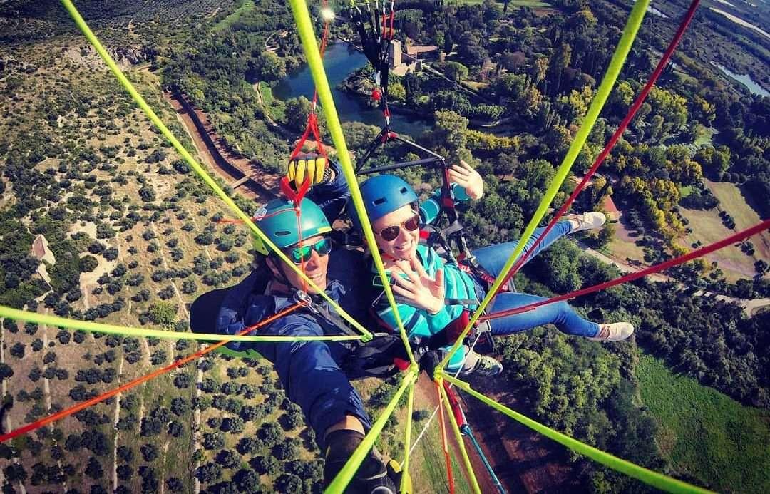 Volo in parapendio biposto sull'Agro Pontino (LT)