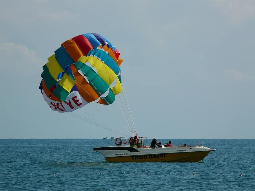 Volo in Parasail triplo sulle coste del Cilento