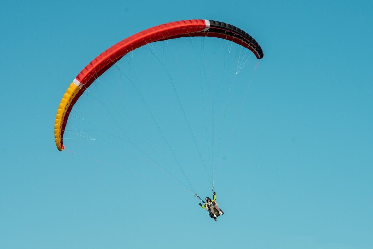 Volo in tandem parapendio nell'Oltrepò Pavese