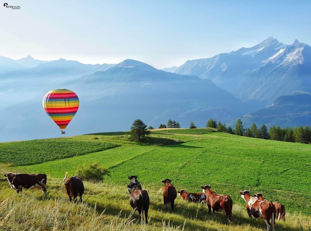 Volo in mongolfiera ad Aosta