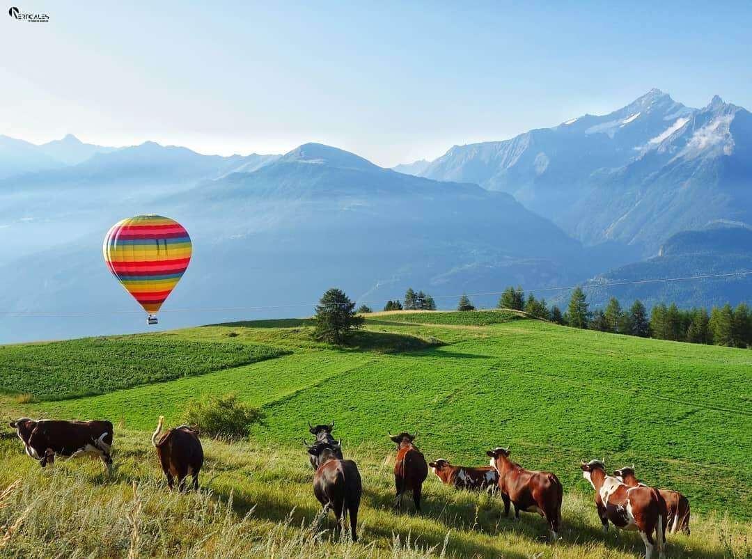 Volo in mongolfiera privato ad Aosta