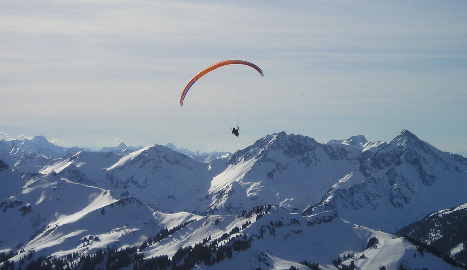 Volo in parapendio biposto sul Monte Bianco
