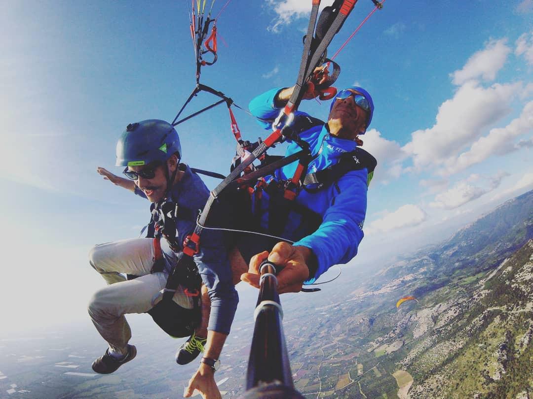 Volo in parapendio biposto in provincia di Rieti