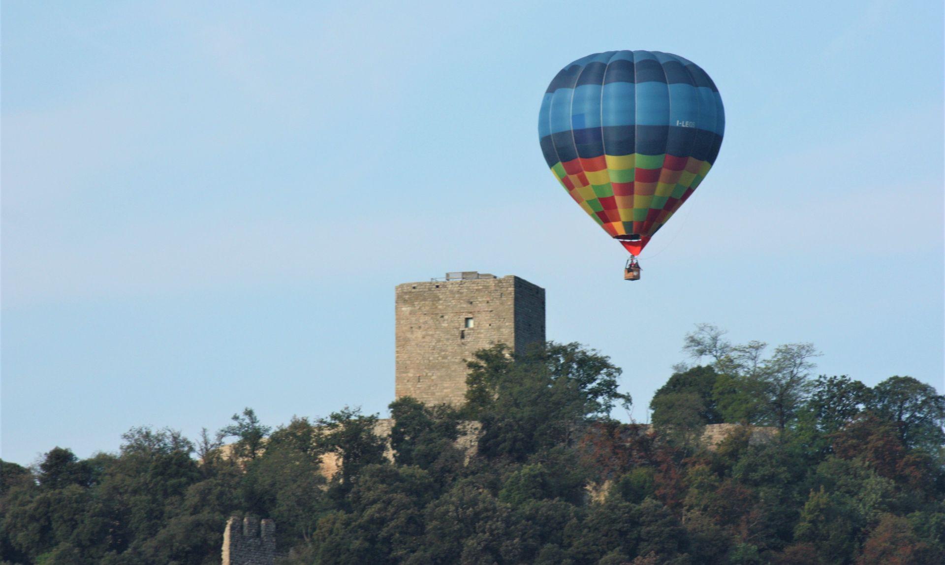 Volo privato in mongolfiera sul borgo medievale di Cittadella