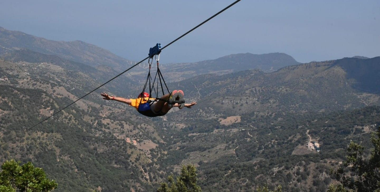 Volo singolo in zipline nel Parco delle Madonie