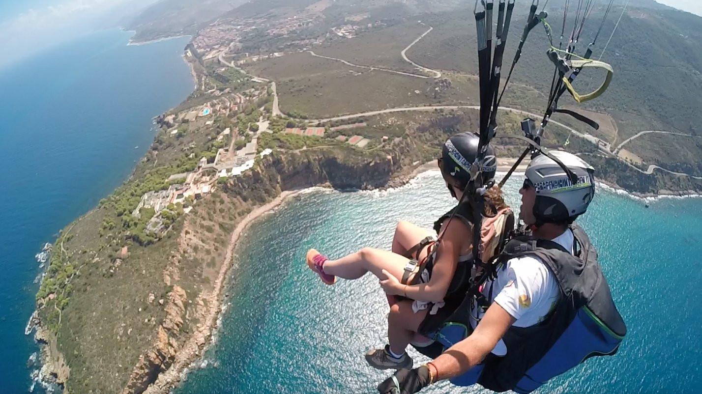 Volo tandem in parapendio in provincia di Agrigento