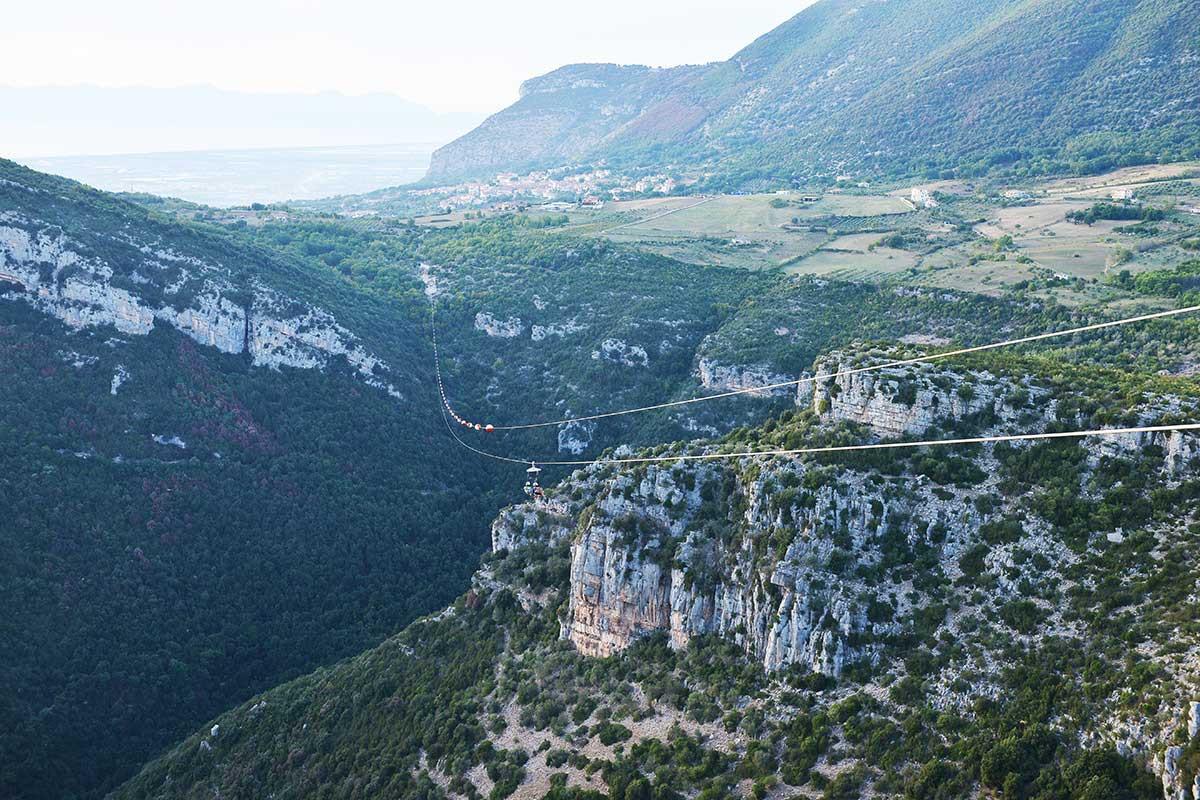 Zipline panoramica in Cilento: Volo singolo