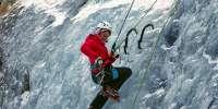 Arrampicata sulle cascate di ghiaccio in Trentino