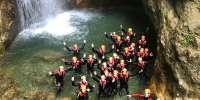 Canyoning Rio Nero nella Valle di Ledro in Trentino