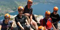 Ferrata di Cima CAPI sul Lago di Garda in Trentino