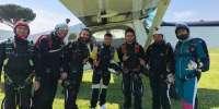 Lancio in tandem con paracadute a Roma