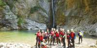 Canyoning torrente Palvico a Pieve di Ledro in Trentino