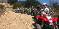 Percorso in quad sulla spiaggia di Kamarina a Ragusa